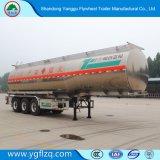 Fuhua Aleación de aluminio de 3 Eje combustible/aceite/Diesel semi remolque cisterna de transporte