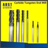 Fraises en bout solides de carbure de tungstène de cannelures de la haute performance 2/3 pour le découpage en aluminium