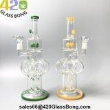"""Il tubo di fumo di vetro popolare 2018 perfezionamento 15.2 """" OEM di vetro Perc del commercio all'ingrosso del tubo di acqua del riciclatore 6-Arm-Tree per quadruplicare il fungo Perc"""