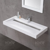 最上質の樹脂の石のCorianの浴室の壁は洗面器をハングさせた