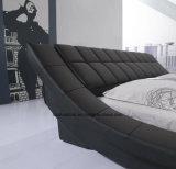 Base di cuoio moderna della mobilia della camera da letto di modo doppia