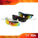 순환하는 주문 한 조각 HD 비전 코팅 렌즈 변하기 쉬워 팔 스포츠 색안경을 몰기