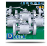 Didtek поддельных A105 металла с плавающей запятой на сиденье шаровой клапан