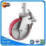 Hochleistungsbaugerüst-Fußrollen-Eisen-Kern PU dreht 450 Kilogramm Kapazitäts-