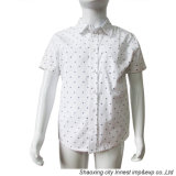 Form-weißes gedrucktes Hemd für Jungen