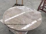 대중음식점 가구를 위한 자연적인 화강암 대리석 석영 돌 둥글거나 정연한 장방형 식탁 & 커피용 탁자 상단