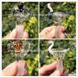 Diapositivas de cristal y tazón de fuente de lujo animales para los tubos de agua que fuman