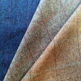Поставщик ткани шерстей одежды из твида, шерстяная ткань для шинели, сплетенная ткань шерстей шерстей, шевронная ткань одежды из твида