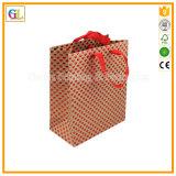 Изготовленный на заказ роскошный бумажный мешок подарка покупкы (OEM-GL-001)