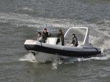 Guardacoste della barca del blu marino della barca di polizia della barca della nervatura di Lianya 7.5m