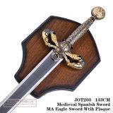 Espada da águia do miliampère com as espadas da decoração das espadas de Plaquespanish Swordmedieval 133cm Jot203