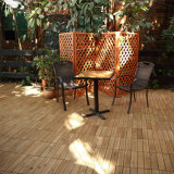 Carrelages en bois antidérapants décoratifs de Decking de jardin extérieur avec la vente chaude des prix bon marché de base en plastique à Philippines