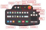 Scanner stabile del bagaglio dei raggi X di qualità per lo scansione SA6550 HI-TEC SICURO del pacchetto e del bagaglio