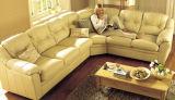 Sofà sezionale del sofà di cuoio moderno con la L figura