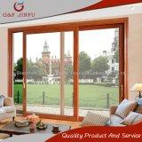 Роскошный балкон алюминий опускное стекло задней двери с деревянной отделкой цвета