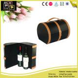Grote Opslag 3 van de Wijn de Doos van de Fles van de Wijn van het Leer van Flessen (5504)