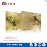 Tuile dans l'environnement légère de mur d'or pour la décoration commerciale