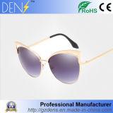Lunettes de soleil de mode de lunetterie de plot réflectorisé en métal de créateur