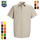 متعدّد لون طويل قصيرة كم طيّار متّسقة عمل قميص [ووركور]