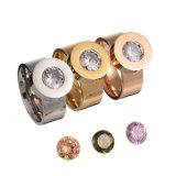 Estrellas de la Moda Mujer joyas de diamantes Anillo de dedo de acero inoxidable