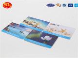 Cartão preto do PVC do resíduo metálico de Sunlanrfid