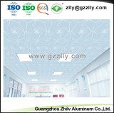 花模様が付いている装飾的な曇らされた天井板