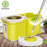 Pôle escamotable Rolling Spin Mop deux roues plafond balai de nettoyage