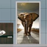 Etiquetas engomadas decorativas de la pared de los murales del papel pintado de la puerta 3D para las etiquetas retras de la puerta del arte de la decoración casera