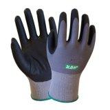 15g трикотажные Oil-Proof рабочие перчатки нитриловые из пеноматериала с покрытием
