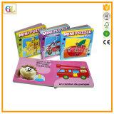 Service d'impression élevé de livre de panneau d'enfants de Qaulity