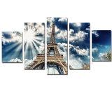 نوع خيش صورة زيتيّة [إيفّل توور] جدار لاصق إشراق صور [أ4] طبق ملصقة حديثة لأنّ زخرفة صورة تضمينيّة [5بكس]
