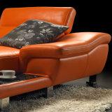 Jogos de couro modernos dos sofás do quarto de Livimg do terno mais longo
