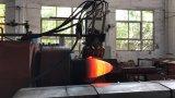 酸素ボンベの製造の熱い回転機械
