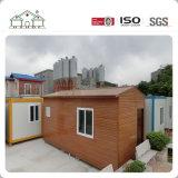 Casa prefabricada de lujo del envase de los hogares del panel de emparedado