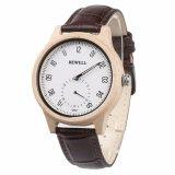 OEM correa de cuero de la marca de moda Hombre y Dama reloj de pulsera de cuarzo Coule