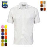 Los hombres Multicolor uniforme de piloto de manga corta Camisa de trabajo