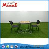 木製のダイニングテーブルのステンレス鋼のコーヒーテーブルセット