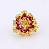 도매 형식 인도 디자인 2017년 핑거 꽃 디자인 반지