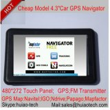 "Preiswerter Auto Satnav GPS Navigationsanlage des Fabrik-Verkaufs-4.3 "" eingebauter 128MB RAM 8GB Blitz-Support Bluetooth, ISDB-T; Handels-für in der hinteren Parken-Kamera; Gps-Navigation"