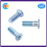 DIN и ANSI/BS/JIS Carbon-Steel/Stainless-Steel Витая внутреннее кольцо подшипника с шестигранной головкой плечевой лямки ремня безопасности с плоской головкой винта с шестигранной головкой Half-Tooth