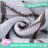 中国の卸売100%の有機性綿の赤ん坊の投球毛布は編んだ