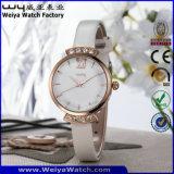 カスタムブランドのロゴの水晶腕時計の偶然の女性腕時計(WY-076B)