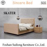 Современный стиль американском стиле ткань спальне двуспальная кровать