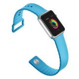Новейшие спортивные мягкие силиконовые смотреть ремешок для Apple Смотрите