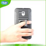 차 전화 홀더를 가진 Alcatel 5025를 위한 Anti-Slip 줄무늬 패턴 클립 권총휴대 주머니 쉘 케이스