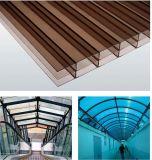 Prix de feuille de toiture de cavité de polycarbonate de l'épaisseur 12mm Lexan de fournisseur de la Chine