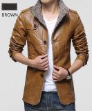 2017 Venda Quente Plus Size moda masculina Faux PU casacos de couro