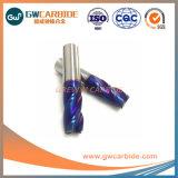 2018 HRC60 2 flautas de carboneto de revestimento de extremidade quadrada Mills