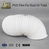 Noir/Blanc/Gris Film PVC résistant au feu pour la gaine de ventilation de l'air/flexible