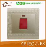 Interruptor eléctrico de la pared de la cuadrilla del precio razonable 2 del surtidor del oro de China
